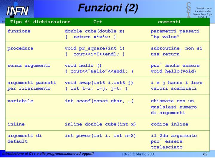 Funzioni (2)