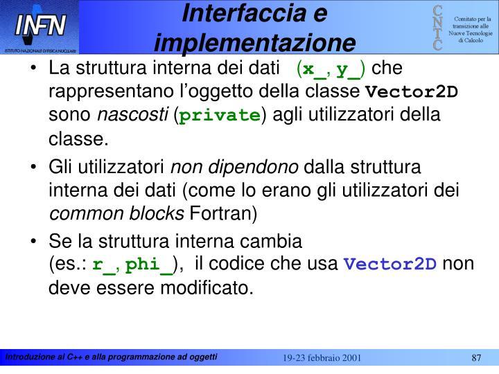 Interfaccia e implementazione