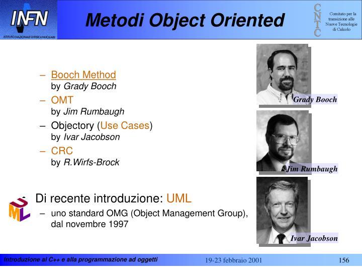Metodi Object Oriented