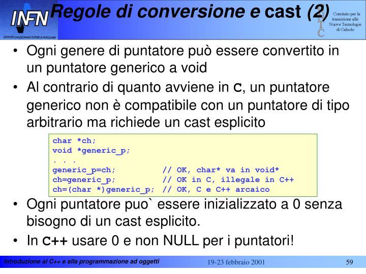 Regole di conversione e