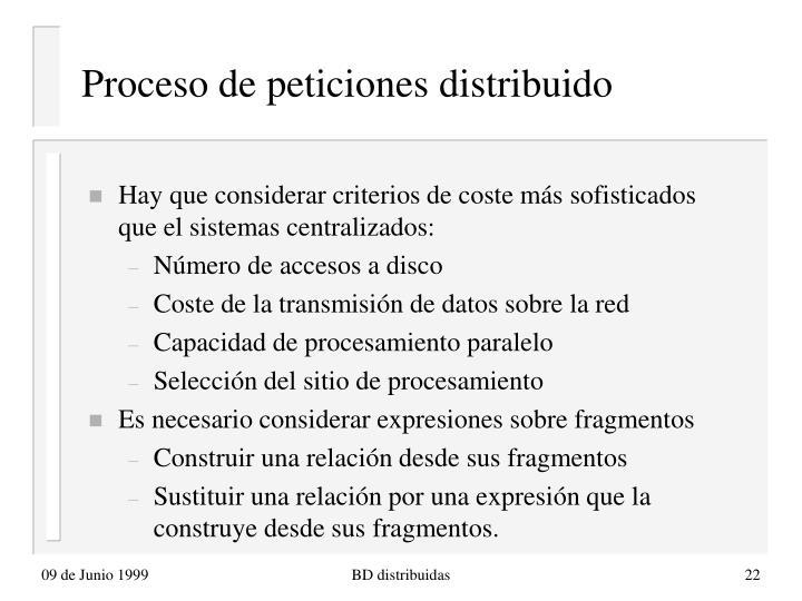 Proceso de peticiones distribuido