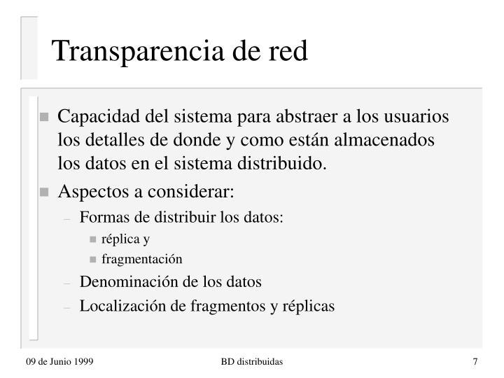Transparencia de red