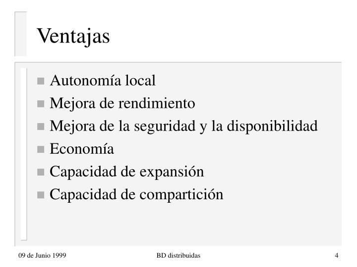Ventajas