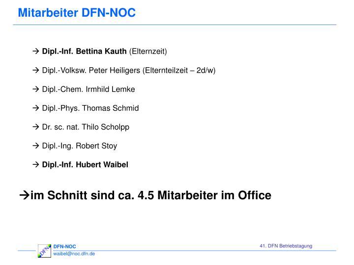 Mitarbeiter DFN-NOC