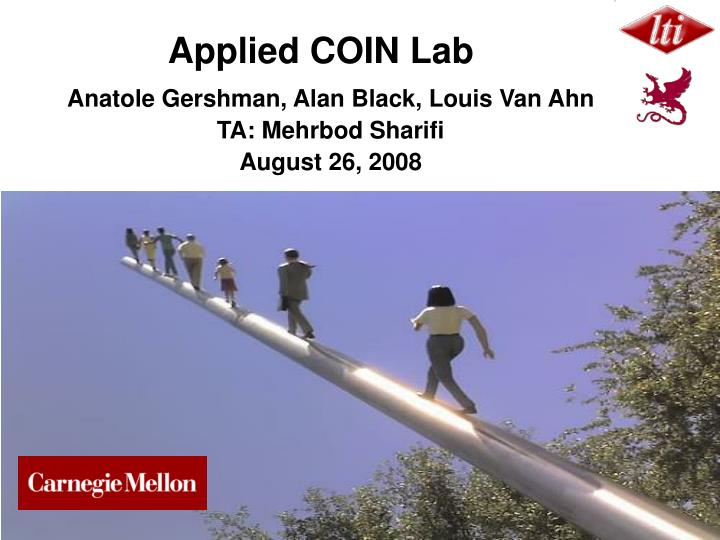 Applied coin lab