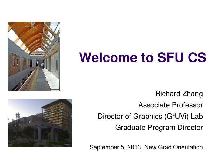 Welcome to SFU CS