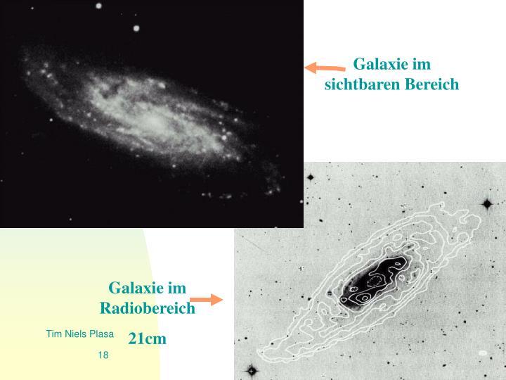 Galaxie im sichtbaren Bereich