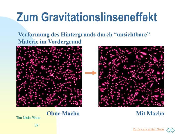 Zum Gravitationslinseneffekt