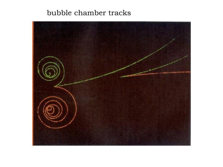 bubble chamber tracks