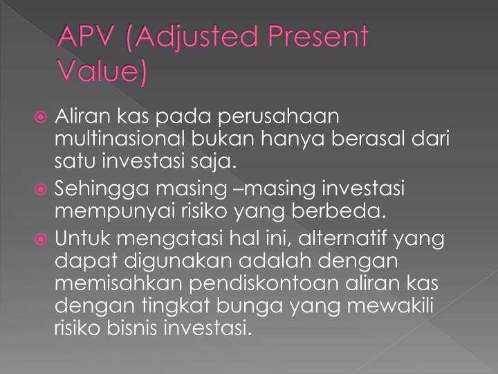 APV (Adjusted Present Value)