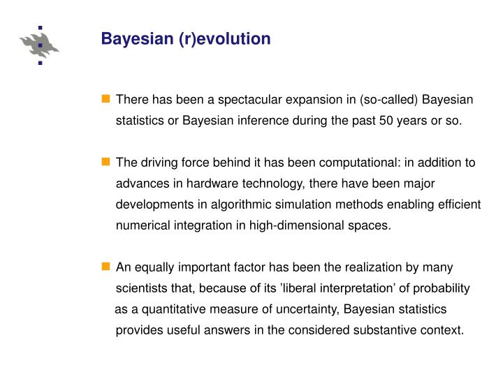 Bayesian (r)evolution