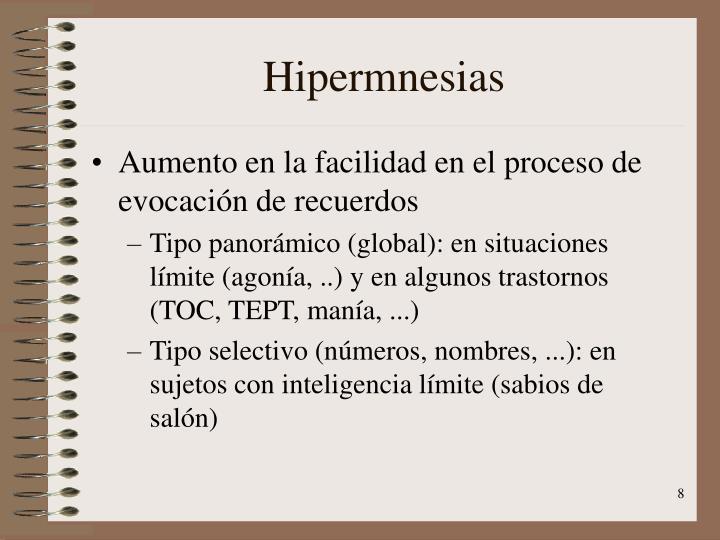 Hipermnesias