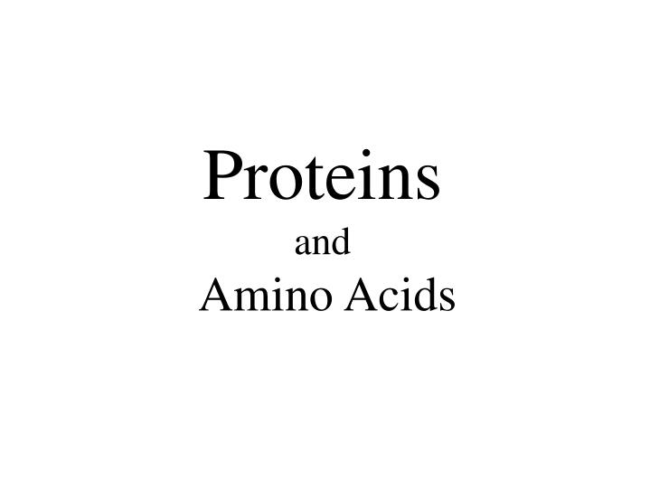 proteins and amino acids n.