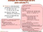 exemplo de preserva o de dfs sem calcular f