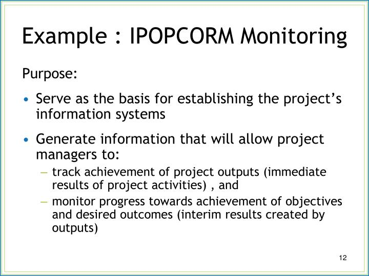 Example : IPOPCORM Monitoring