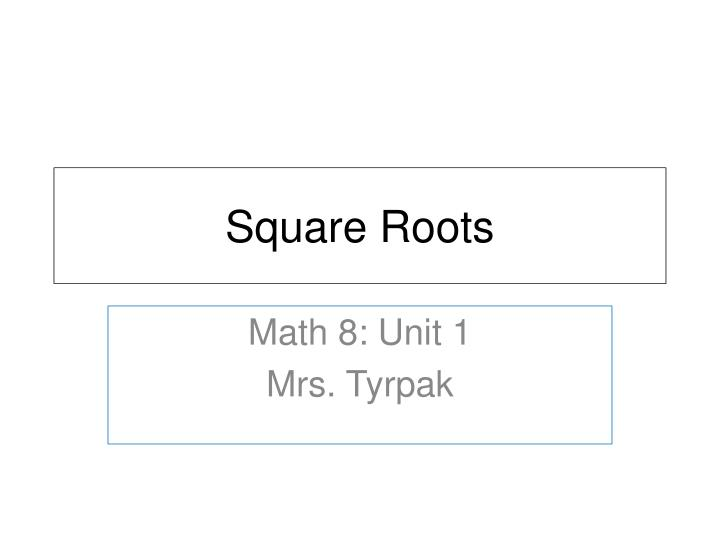 square roots n.