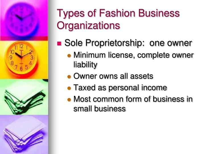 Types of Fashion Business Organizations