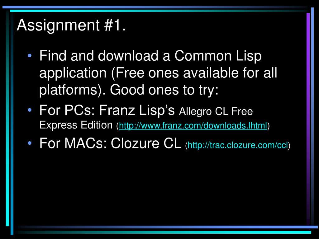 PPT - Lisp PowerPoint Presentation - ID:4288287