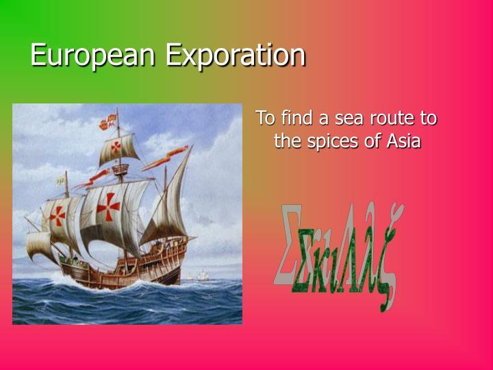 European exporation