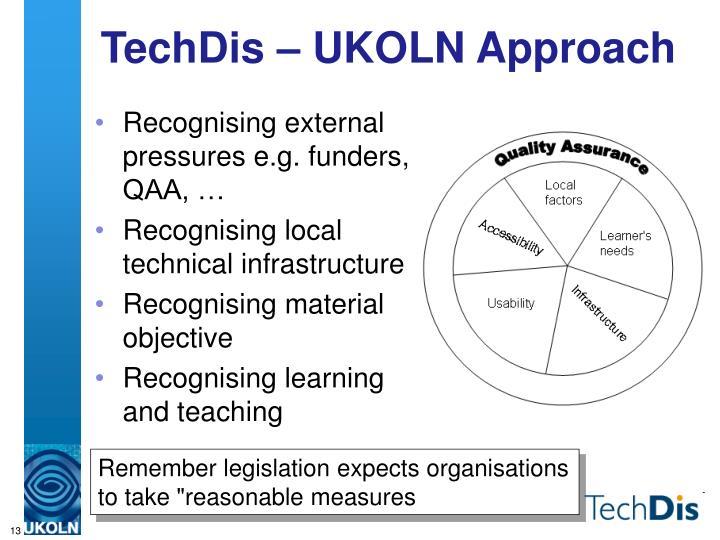 TechDis – UKOLN Approach