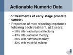 actionable numeric data