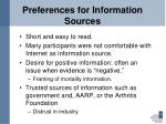 preferences for information sources