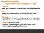 recent developments high content high throughput assays
