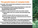 the genetic basis of complex traits