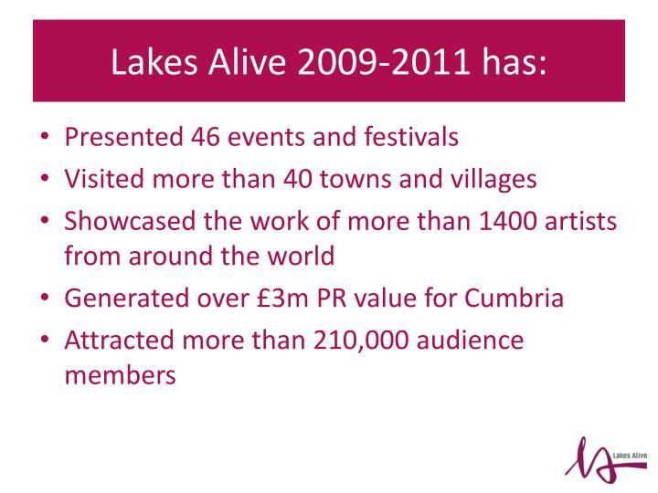 Lakes alive 2009 2011 has