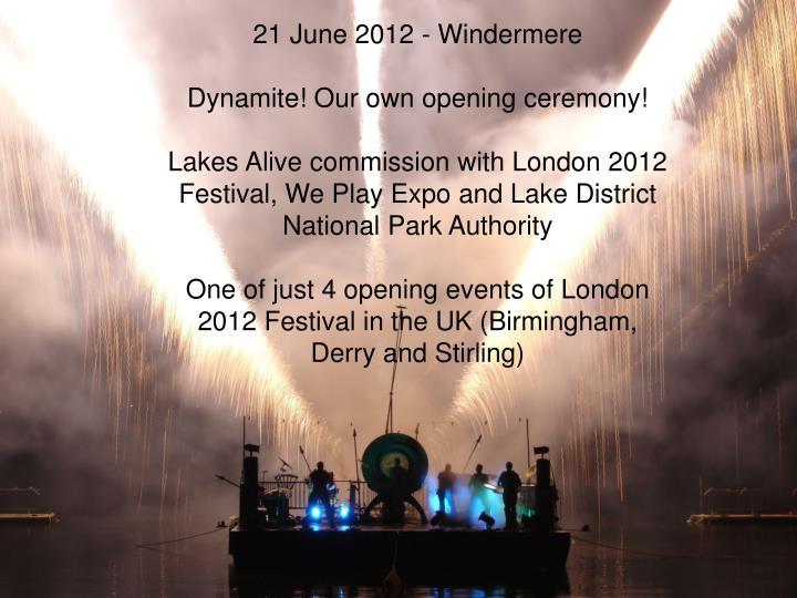 21 June 2012 - Windermere
