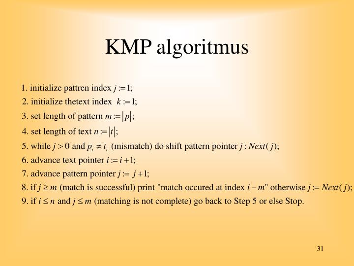 KMP algoritmus