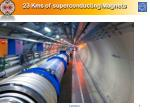 23 kms of superconducting magnets