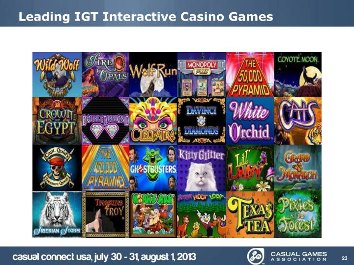 Leading IGT Interactive Casino Games
