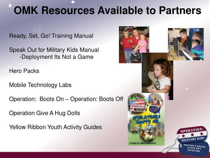 OMK Resources Available to Partners