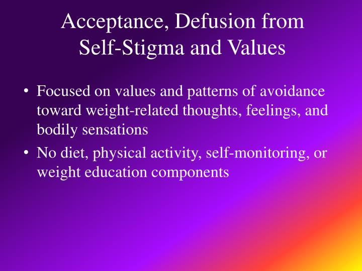 Acceptance, Defusion from