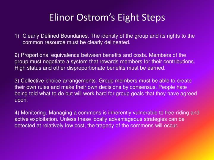 Elinor Ostrom's Eight Steps