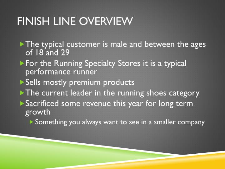 Finish Line overview