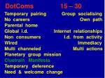 dotcoms 15 30