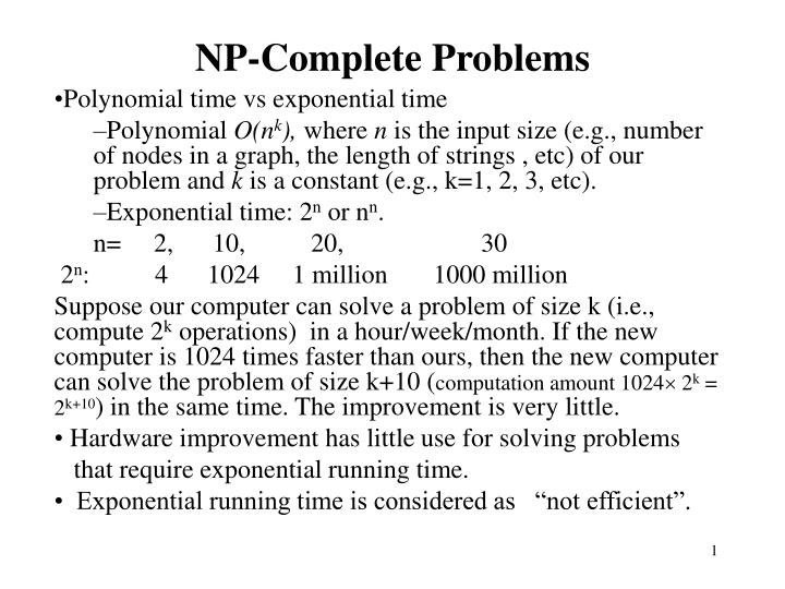 np complete problems n.