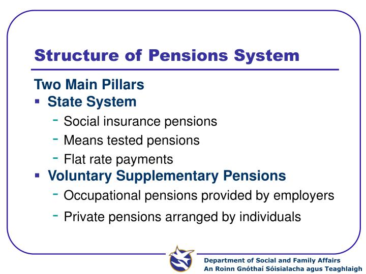 Structure of pensions system