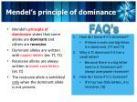 mendel s principle of dominance