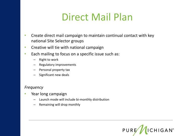 Direct Mail Plan