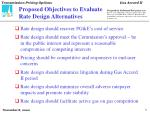 proposed objectives to evaluate rate design alternatives