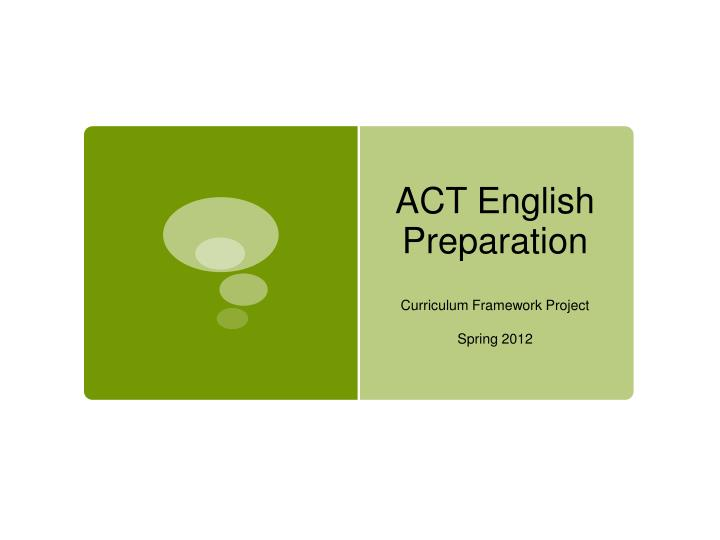 act english preparation n.
