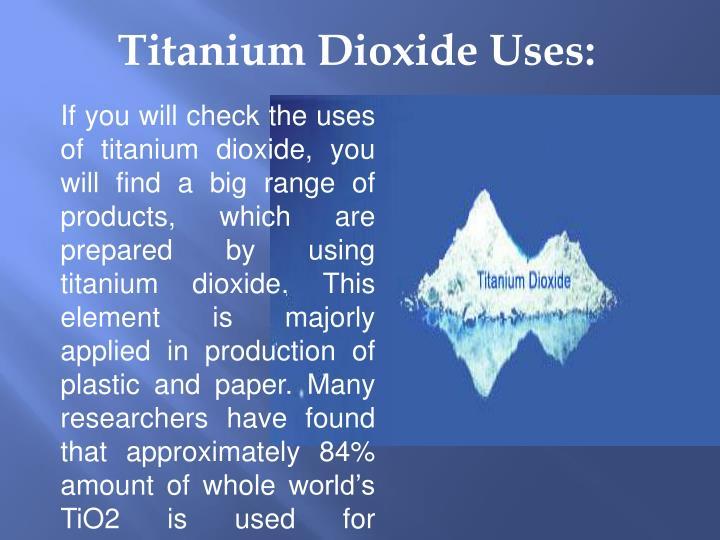 Titanium Dioxide Tds