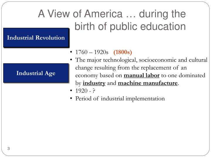 A View of America … during the birth of public education