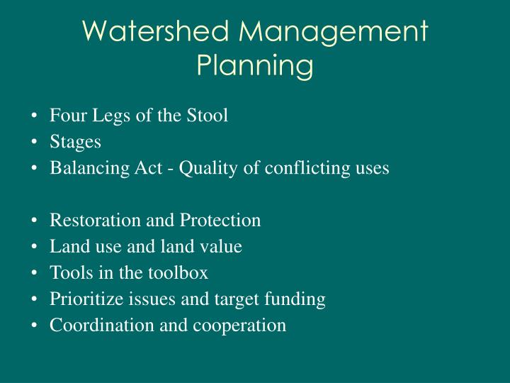 Watershed Management Planning