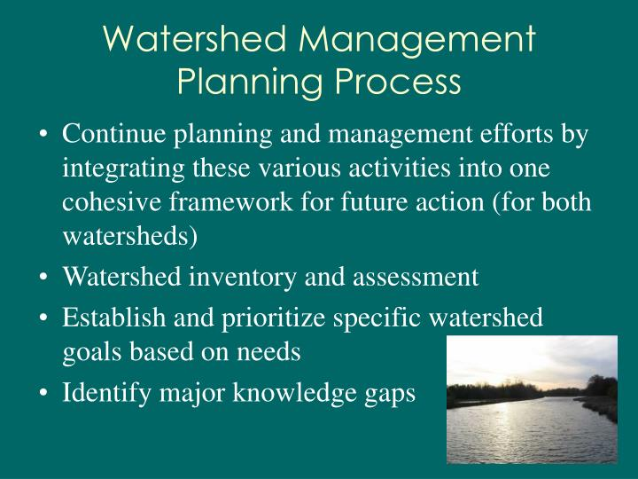 Watershed Management Planning Process