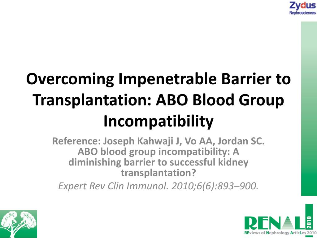 PPT - Overcoming Impenetrable Barrier to Transplantation