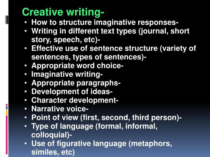 Creative writing-